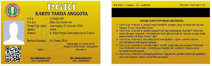Download Software Cetak Kartu PGRI