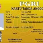 Contoh Desain Kartu PGRI