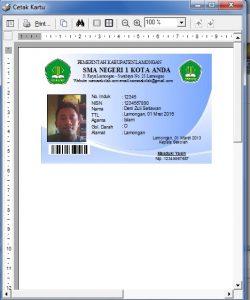 Cara Membuat Kartu Siswa Lengkap dengan Barcode