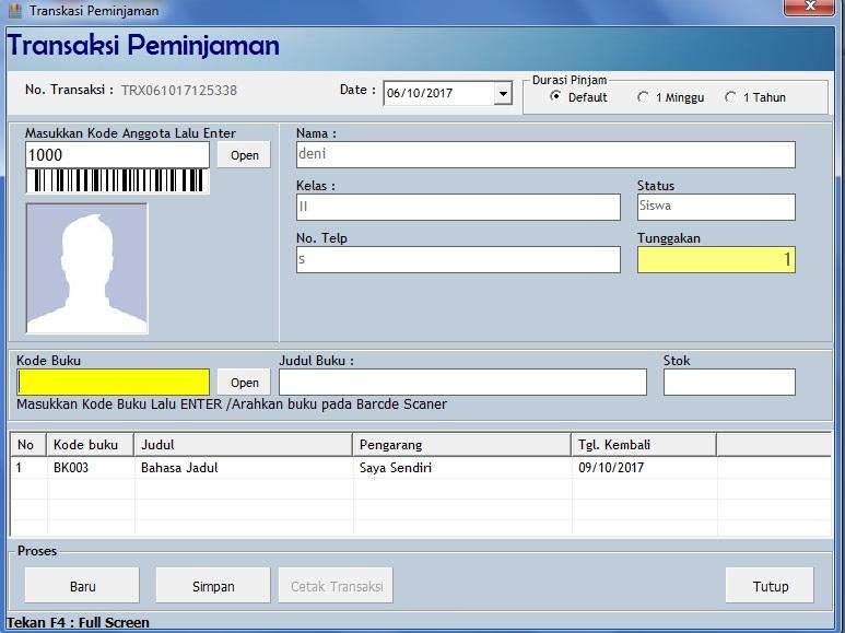 software perpustakaan gratis full version