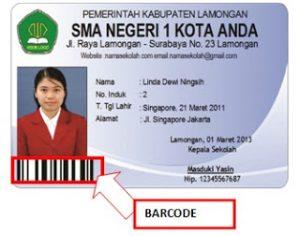 Software Kartu Pelajar yang ada barcodenya
