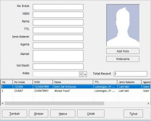 Input Data Simple Student Card Pro