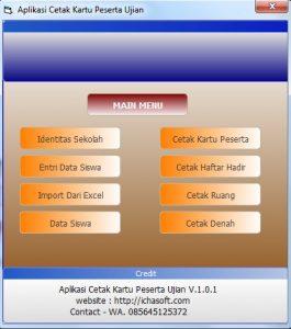 Aplikasi Kartu Peserta Ujian Sekolah Terbaru